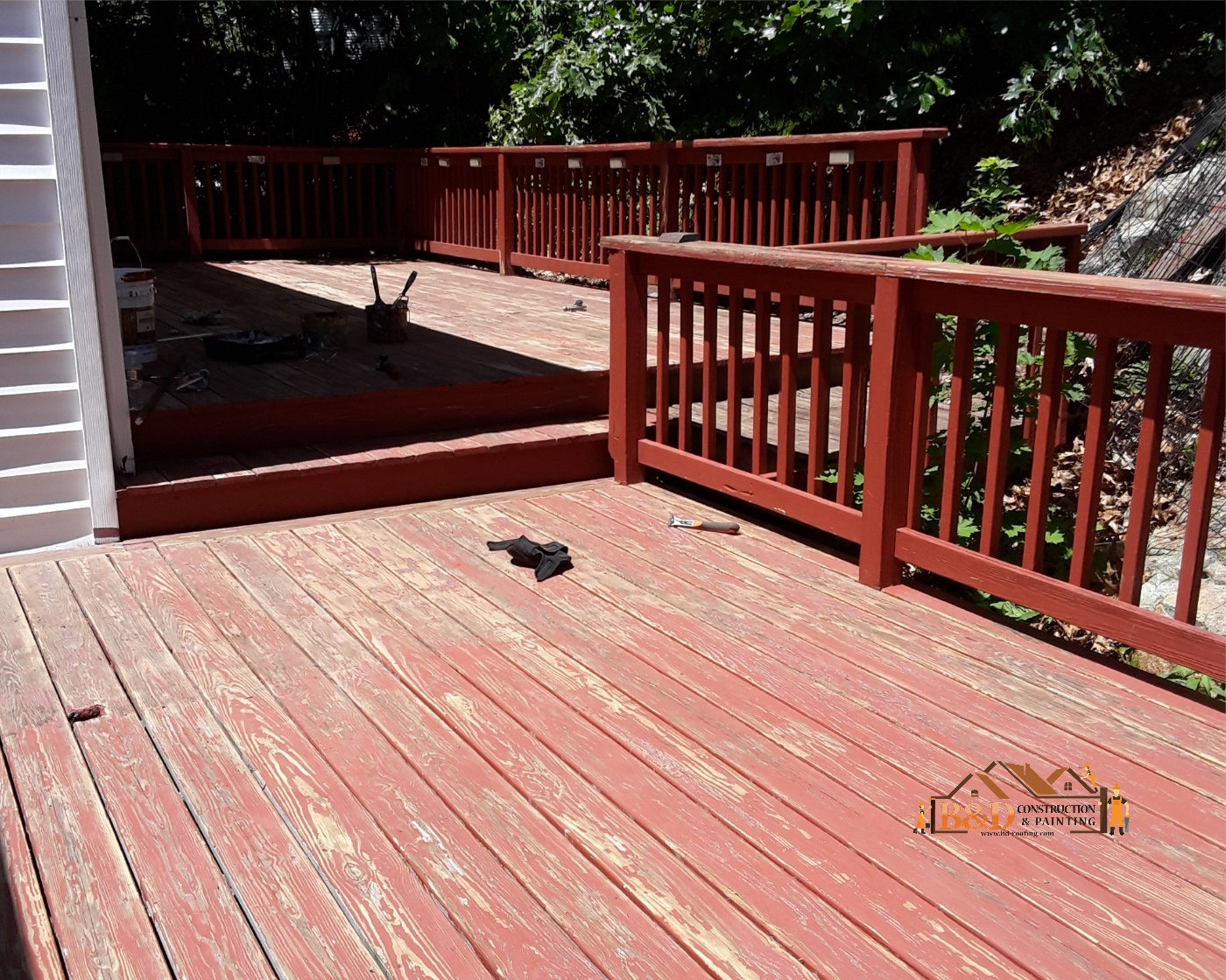 Deck Painting before